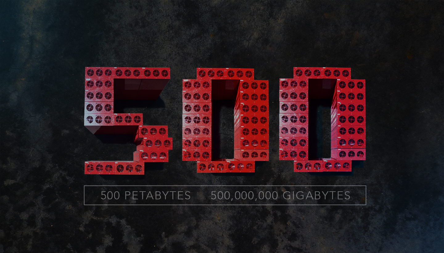 Backup service Backblaze passed 500 Petabytes of data stored